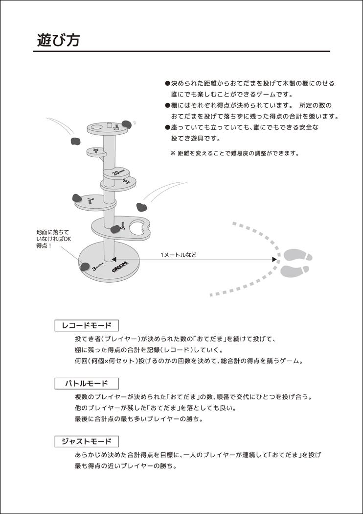 ユニバーサル・ゲーム「おけだま」マニュアル3